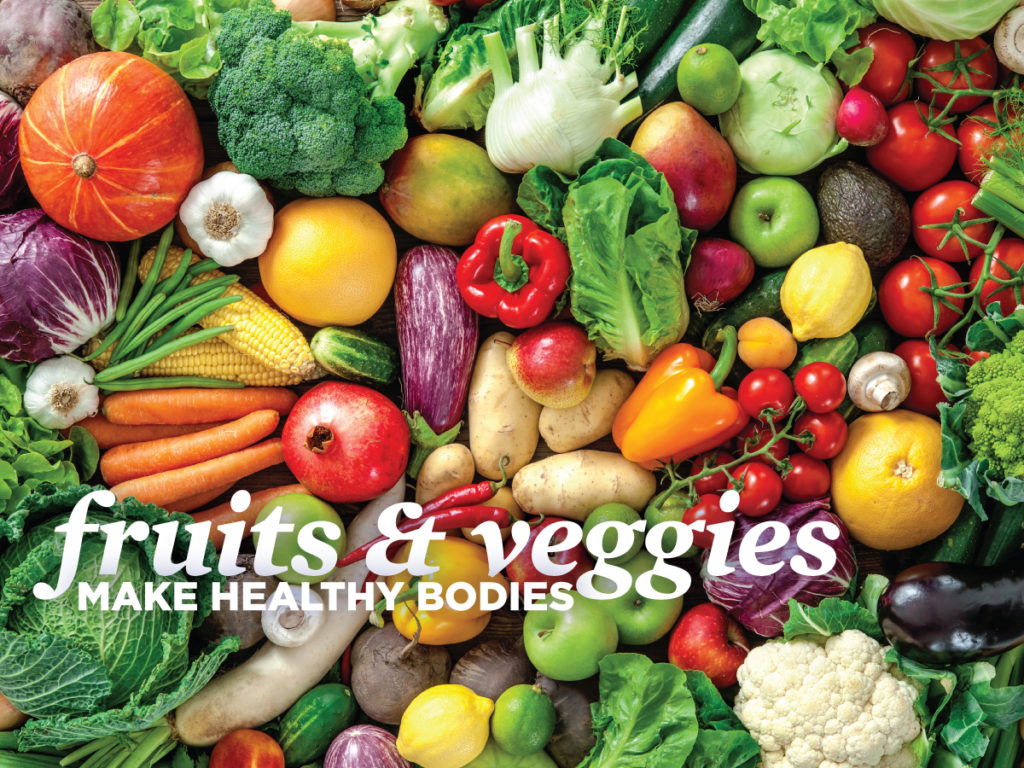 healthy fruits and vegetables - Vitamin C