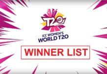 ICC Womens Cricket T20 World Cup Winners List