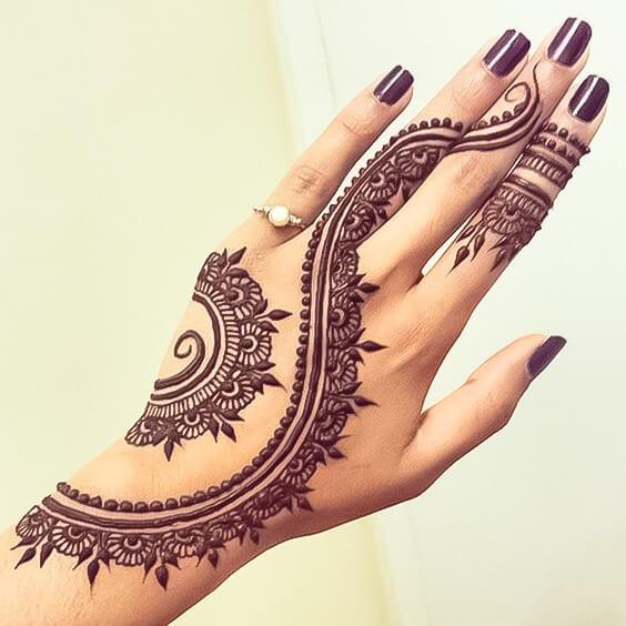 Half Hand Simple Mehndi Designs