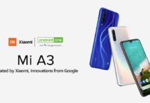 Xiaomi Mi A3 Android One phone