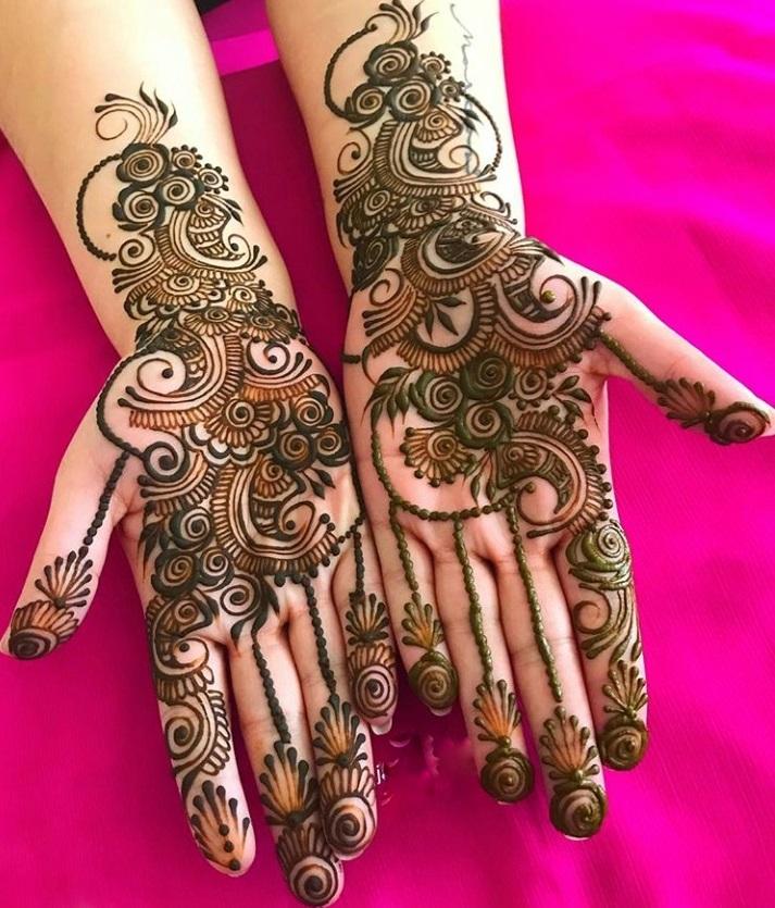 best indo arabic mehndi designs
