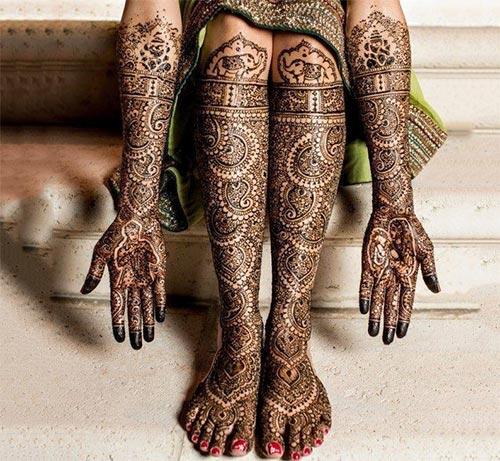Indian mehndi designs for wedding photos