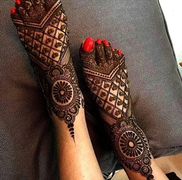 jewelry looks mehndi design feet