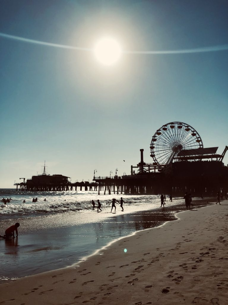 The Santa Monica Pier in the United States