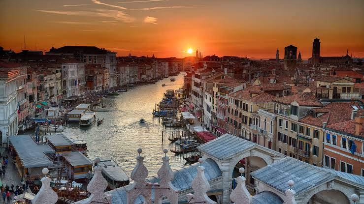 The rivers of Venice in Italy