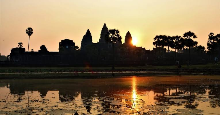The ruins of Angkor in Cambodia