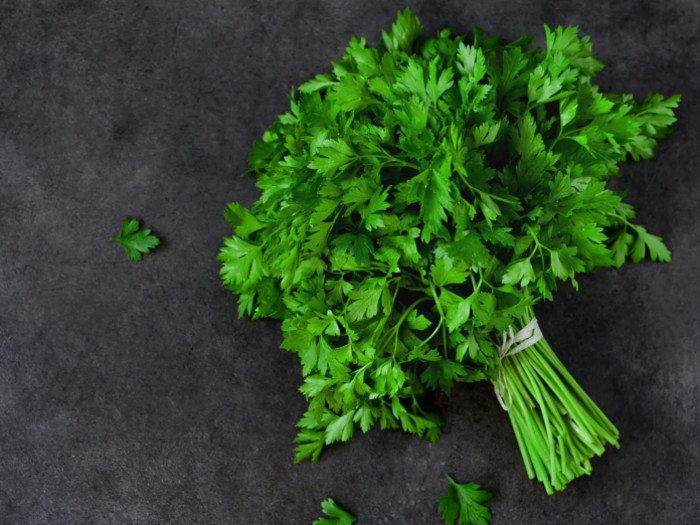 parsley organic food help weight loss