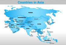 Countries in Asia