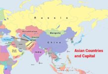 asia countries and capitals