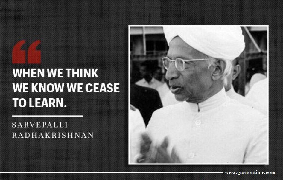 Learning Quotes by Sarvepalli Radhakrishnan
