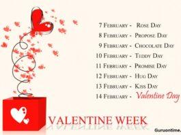Valentine week list date 2021